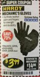 Harbor Freight Coupon MECHANIC'S GLOVES Lot No. 61235/62434/62426/93640/62433/62428/60447/93641/62432/60448/62429 Expired: 2/28/18 - $3.99