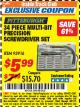 Harbor Freight ITC Coupon 34 PIECE MULTI-BIT PRECISION SCREWDRIVER SET Lot No. 93916 Expired: 8/31/17 - $5.99