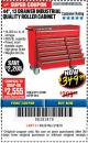 "Harbor Freight Coupon 44"", 13 DRAWER INDUSTRIAL QUALITY ROLLER CABINET Lot No. 62270/62744/68784/69387/63271 Expired: 3/18/18 - $349.99"
