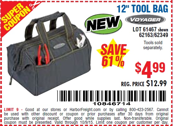 Harbor Freight Coupon 12
