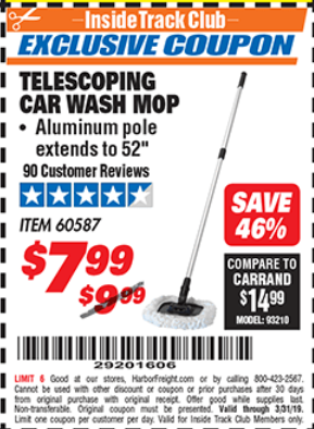 Harbor Freight TELESCOPING CAR WASH MOP coupon