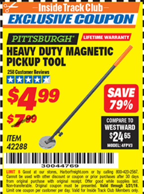 Harbor Freight HEAVY DUTY MAGNETIC PICKUP TOOL coupon