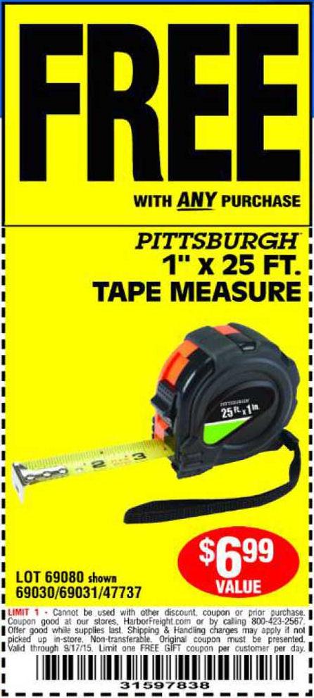 Harbor freight measuring tape fluke 54