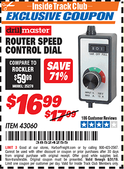 Harbor Freight ROUTER SPEED CONTROL DIAL coupon