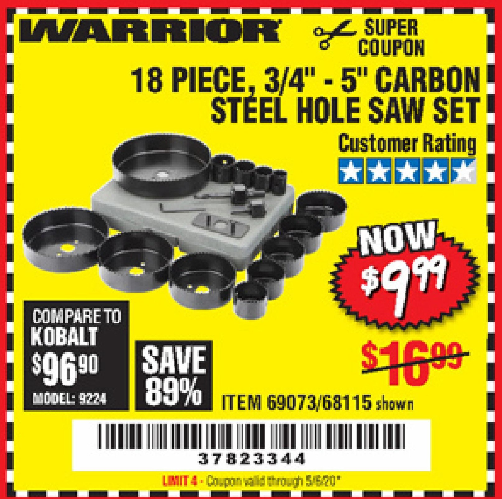 Harbor Freight 18 PC 3/4