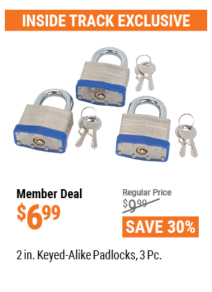 "www.hfqpdb.com - 3 PIECE 2"" KEYED ALIKE PADLOCKS Lot No. 40605"