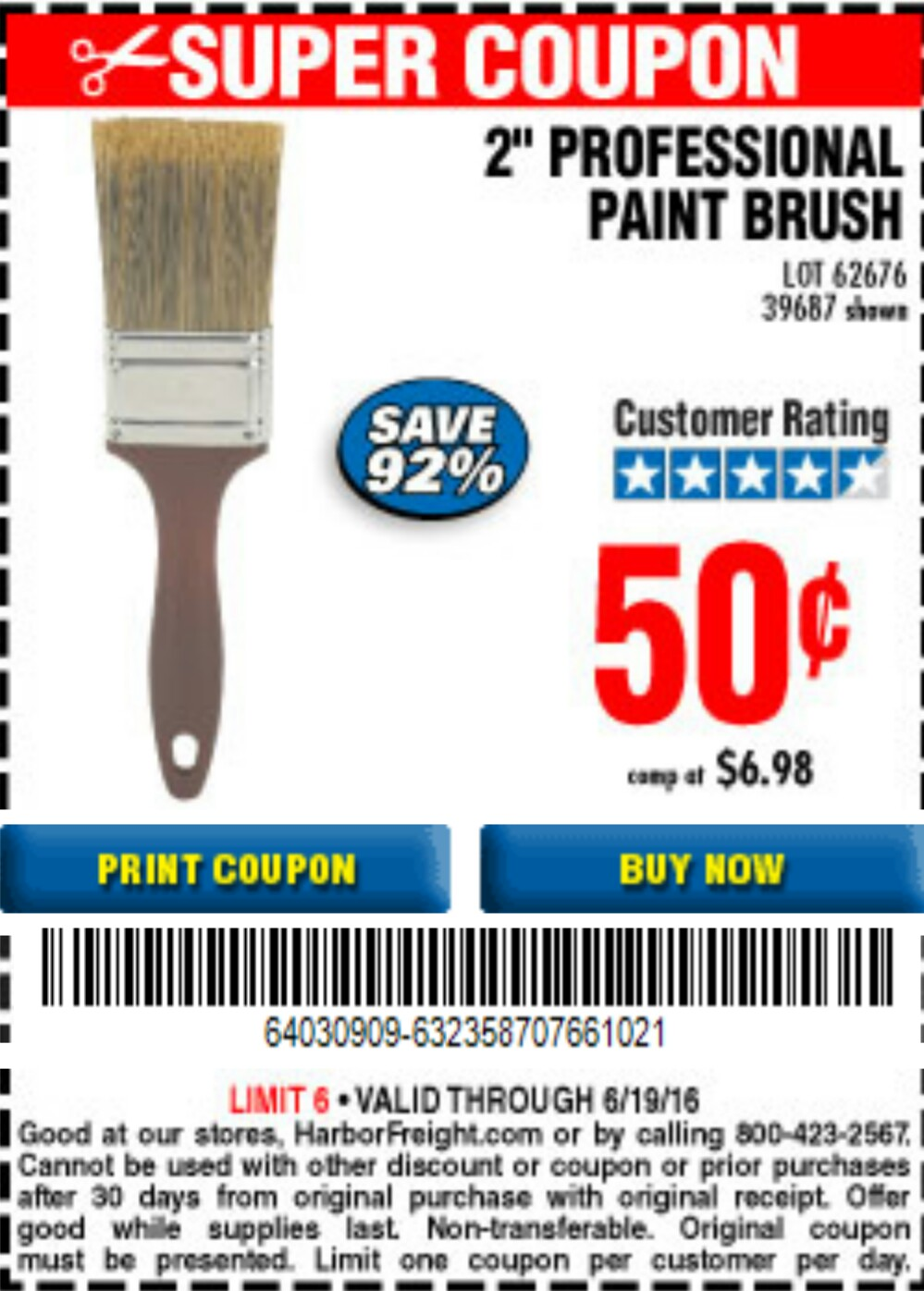 harbor freight paint brush coupon