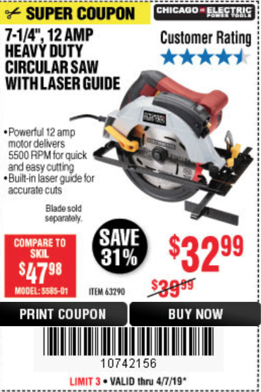 Harbor Freight 7-1/4