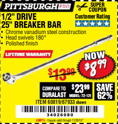 Harbor Freight PITTSBURGH PRO 1/2