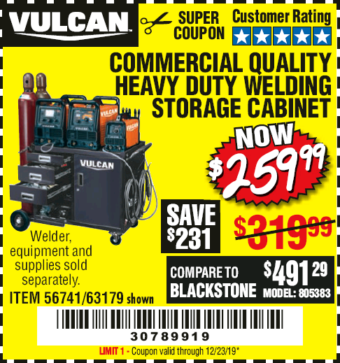 www.hfqpdb.com - VULCAN COMMERCIAL QUALITY HEAVY DUTY WELDING CABINET Lot No. 63179