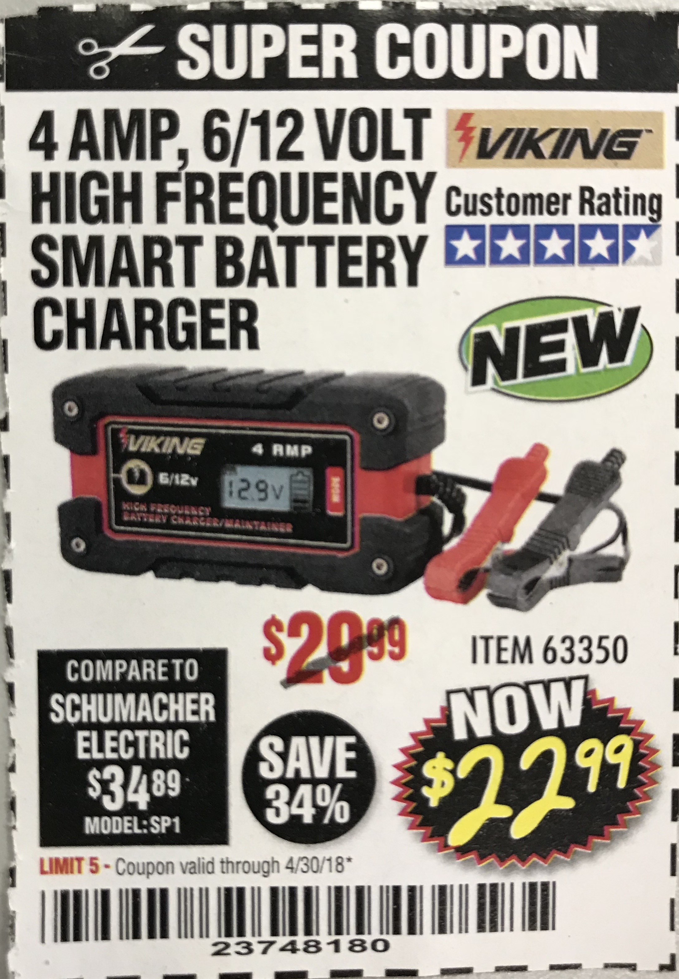 Harbor Freight Tools Coupon Database Free Coupons 25 Percent Off Coupons Toolbox Coupons 4amp 6 12v High Frequency Smart Battery Charger