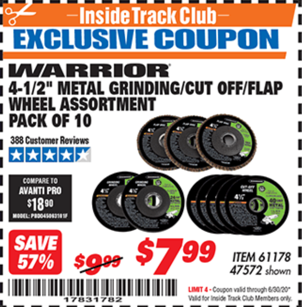 Harbor Freight 10 PIECE, 4-1/2