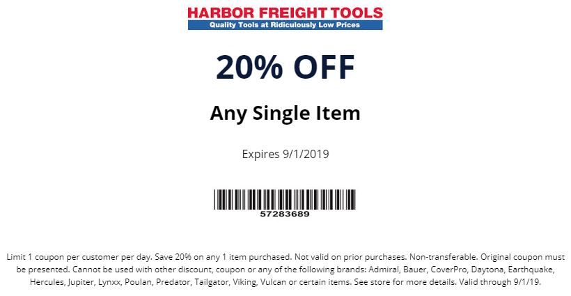 By Photo Congress    Harbor Freight Trailer Coupon May 2019
