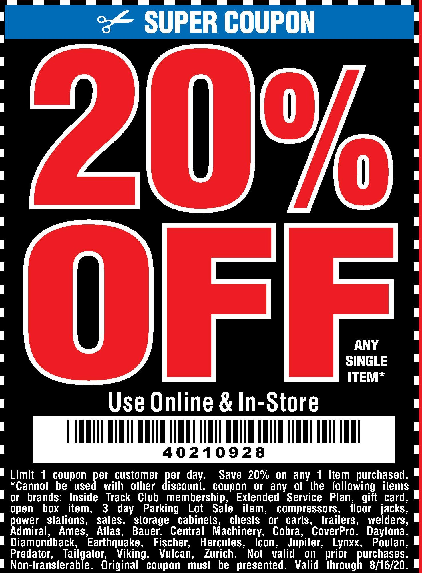 Harbor Freight Tools Coupon Database Free Coupons Percent Off Coupons Toolbox Coupons