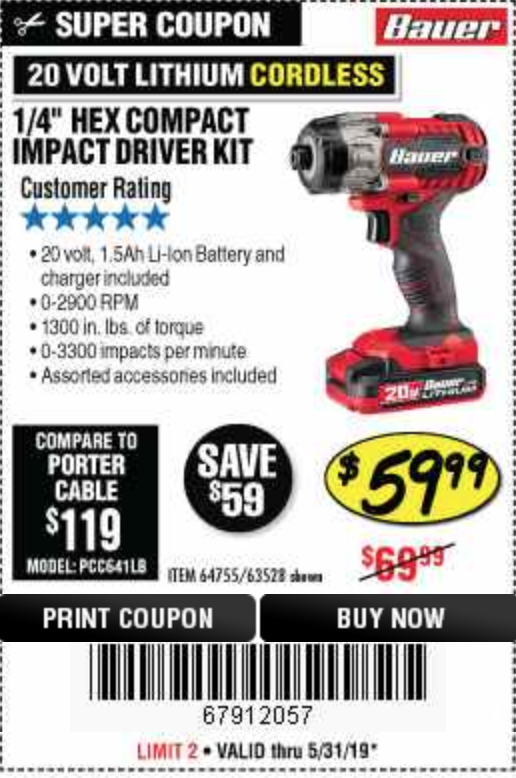 Harbor Freight 1/4