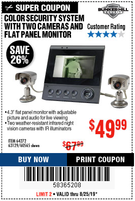 www.hfqpdb.com - COLOR SECURITY SYSTEM WITH 2 CAMERAS AND FLAT PANEL MONITOR Lot No. 62284/63129/60565