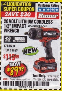 1 2 Cordless Impact >> Harbor Freight Tools Coupon Database - Free coupons, 25 ...