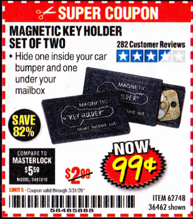 www.hfqpdb.com - MAGNETIC KEY HOLDER SET OF TWO Lot No. 62748/36462