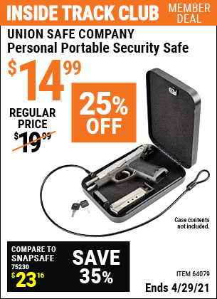 www.hfqpdb.com - PERSONAL PORTABLE SECURITY SAFE Lot No. 64079