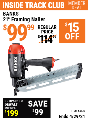 www.hfqpdb.com - 21° FRAMING NAILER Lot No. 64138