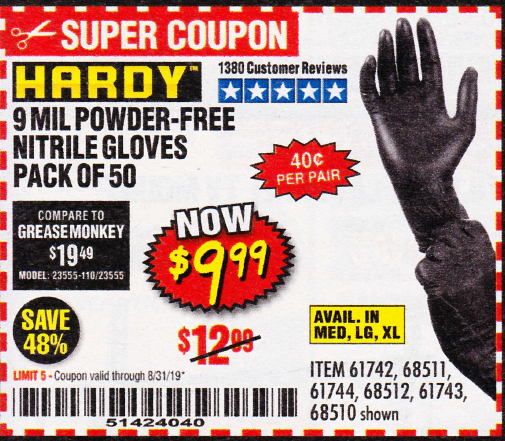 www.hfqpdb.com - POWDER-FREE NITRILE GLOVES PACK OF 50 Lot No. 68510/61742/68511/61744/68512/61743