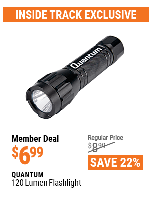 www.hfqpdb.com - QUANTUM 120 LUMENS FLASHLIGHT Lot No. 63937
