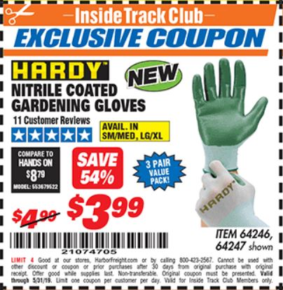 www.hfqpdb.com - NITRILE COASTED GARDENING GLOVES Lot No. 64246/64247