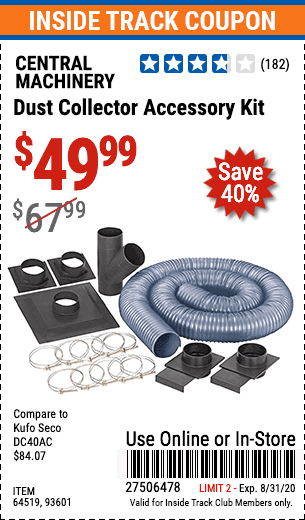 www.hfqpdb.com - DUST COLLECTOR ACCESSORY KIT Lot No. 64519/93601