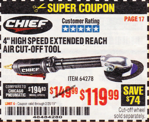 Harbor Freight CHIEF 4
