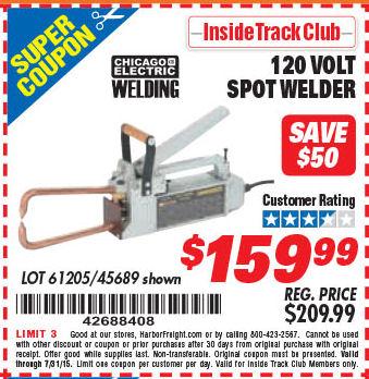 Harbor freight Spot welder Manual