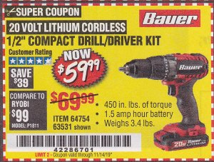 www.hfqpdb.com - 20V HYPERMAX LITHIUM 1/2 IN. DRILL/DRIVER KIT Lot No. 63531