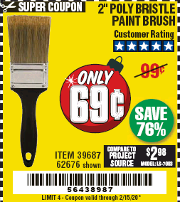 www.hfqpdb.com - 2 IN. PROFESSIONAL PAINT BRUSH Lot No. 39687, 62676