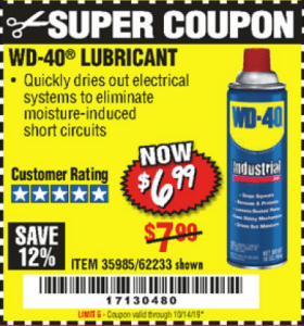 Harbor Freight WD-40 LUBRICANT coupon