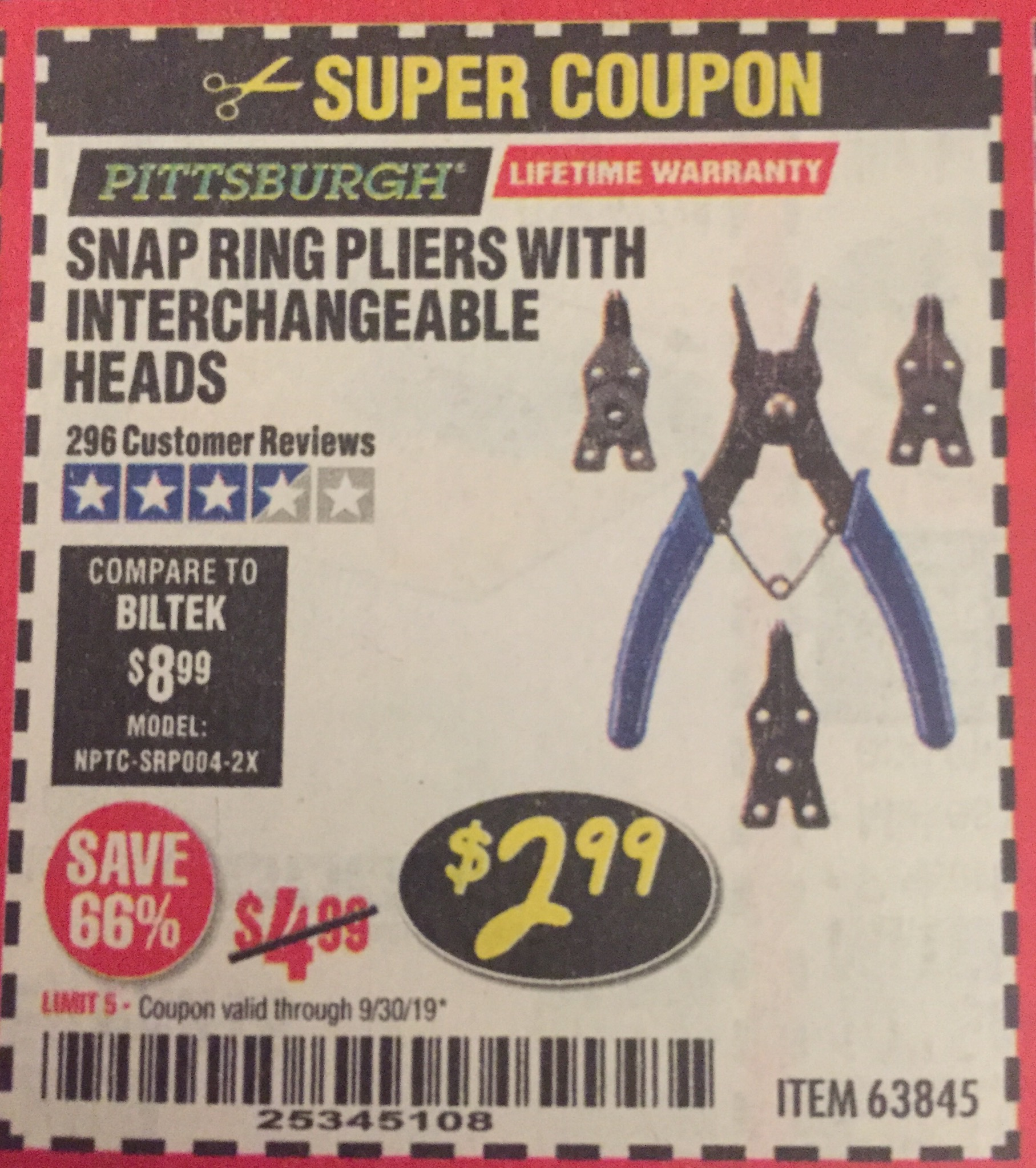 www.hfqpdb.com - SNAP RING PLIERS WITH INTERCHANGEABLE HEADS Lot No. 63845