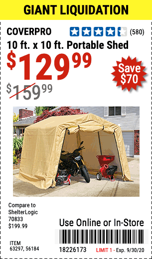 Harbor Freight Tools Coupon Database Free Coupons 25 Percent Off Coupons Toolbox Coupons 10 Ft X 10 Ft Portable Shed