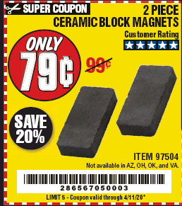 www.hfqpdb.com - CERAMIC BLOCK MAGNETS Lot No. 97504