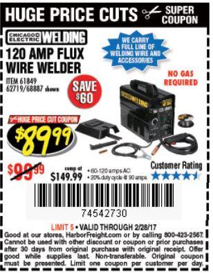 Harbor freight wire welder Coupon regulator
