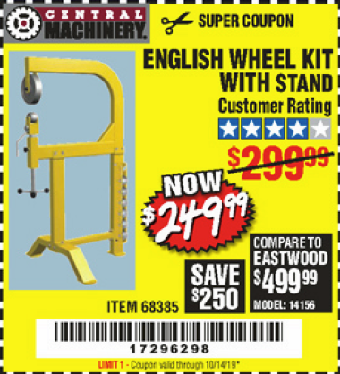 www.hfqpdb.com - ENGLISH WHEEL KIT WITH STAND Lot No. 95359/68385