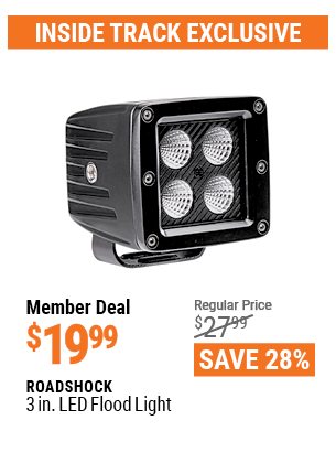 www.hfqpdb.com - ROADSHOCK 3 IN. LED FLOOD LIGHT Lot No. 64322