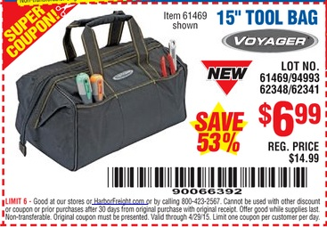 Harbor Freight Coupon 15