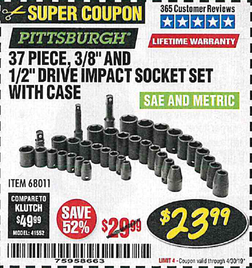 Harbor Freight 37 PIECE 3/8
