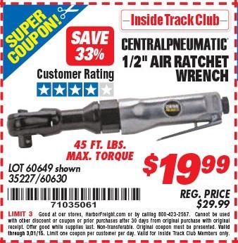 Earthquake XT 3/4″ Composite Pro Extreme Torque Air Impact Wrench – Expires 8/31/18 – 62892