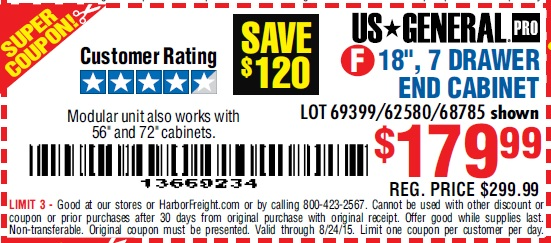 Filter Harbor Freight Promo Codes By Discount Value
