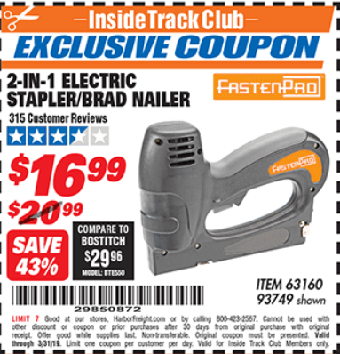 Chicago Electric Power Tools 3-In-1 Stapler//Brad//Pin Nailer