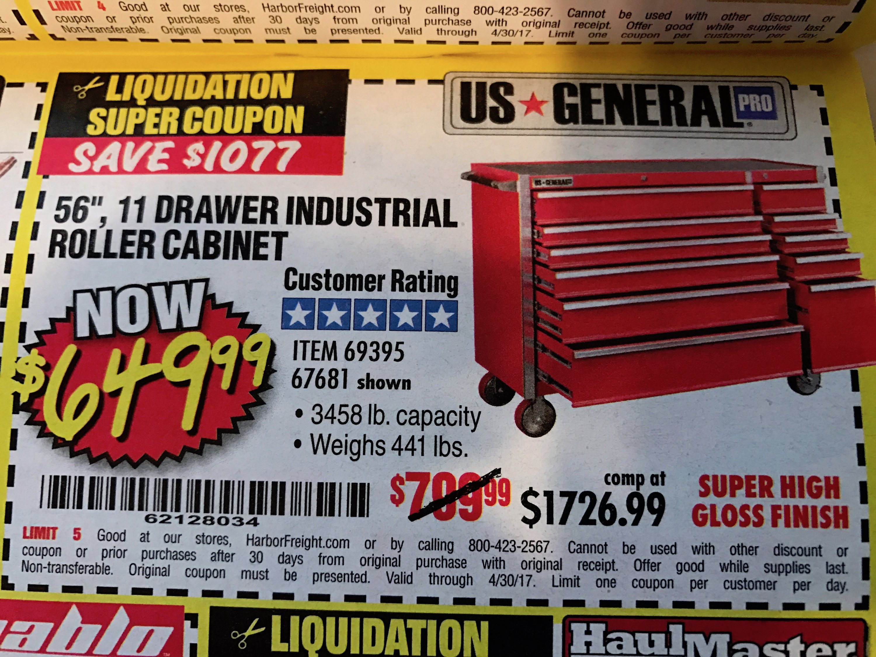 harbor freight tool chest coupon 2019