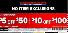 Harbor Freight Coupon 10100 percent off coupon expires: 9/15/19