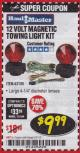 Harbor Freight Coupon 12 VOLT MAGNETIC TOWING LIGHT KIT Lot No. 62517/62753/67455/69626/69925/63100 Expired: 3/31/18 - $9.99