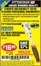 "Harbor Freight Coupon 3/8"" DRIVE PROFESSIONAL FLEX-HEAD RATCHET Lot No. 62321 Expired: 8/17/15 - $16.99"