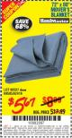 "Harbor Freight Coupon 72"" X 80"" MOVING BLANKET Lot No. 66537/69505/62418 Expired: 8/31/15 - $5.67"