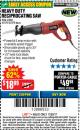 Harbor Freight Coupon RECIPROCATING SAW WITH ROTATING HANDLE Lot No. 65570/61884/62370 Expired: 11/22/17 - $18.99